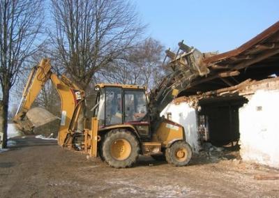 nedrivning og udgravning